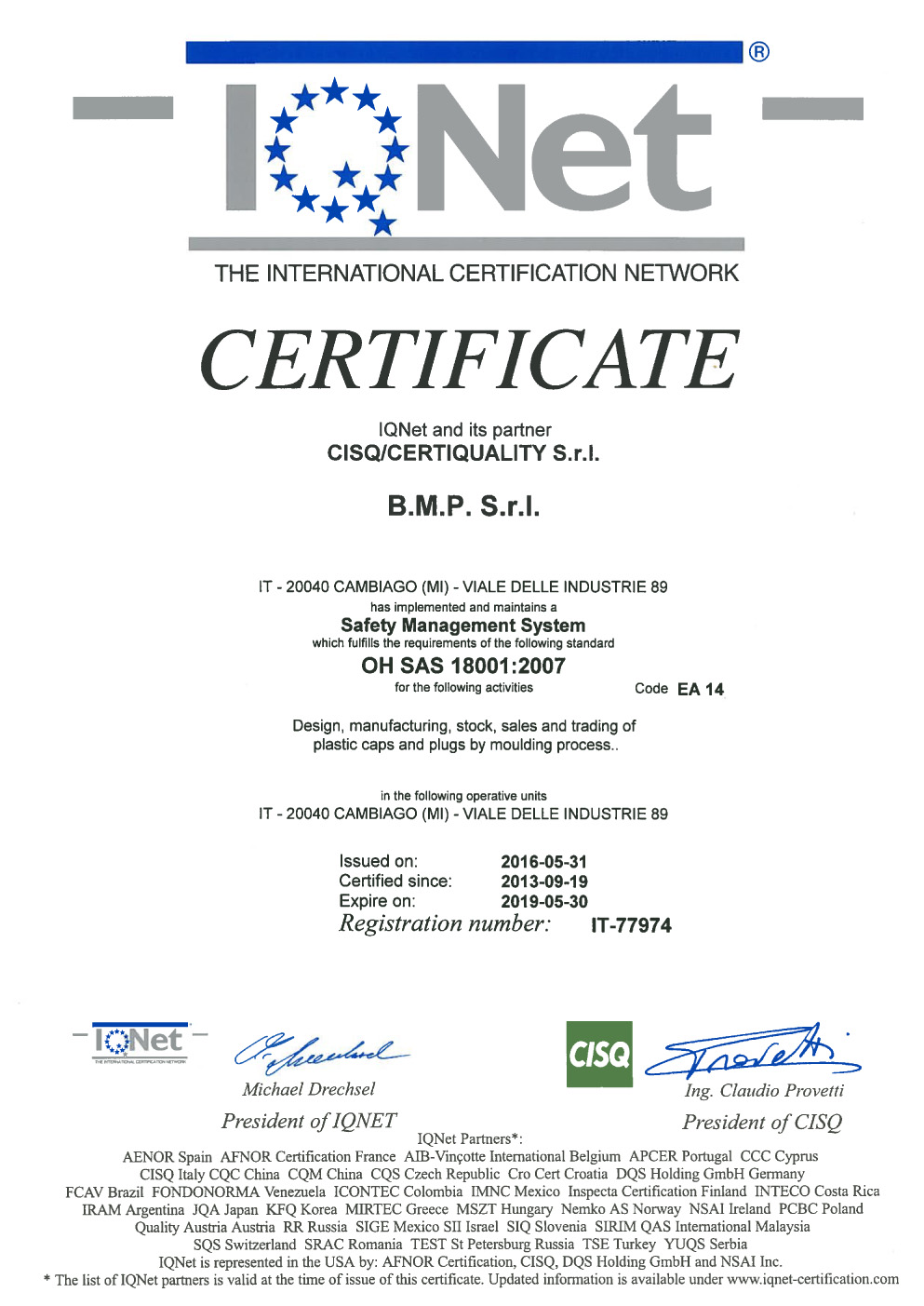 Certifications Bmp Tappi